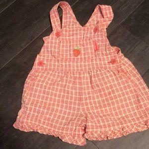 Vintage baby bgosh Oshkosh strawberry overalls 12m